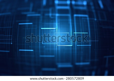 Abstract 3D lines grid background - stock photo