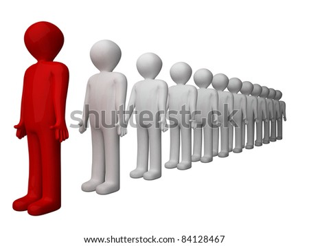 Abstract 3D man rendering. - stock photo