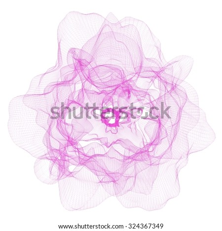 Abstract 3D mesh background
