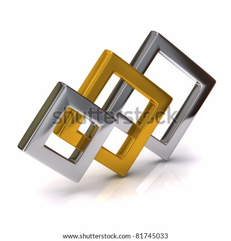 Abstract 3D object - stock photo