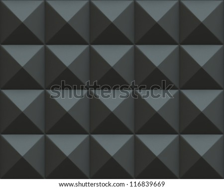 Abstract 3d render of pyramids texture - stock photo