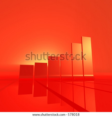 abstract 3d rendering of a chart - stock photo