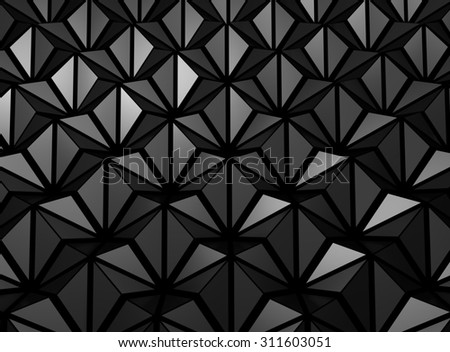 Abstract 3d rendering of futuristic surface - stock photo