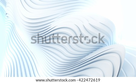 Abstract 3d rendering red wave stripes background - stock photo