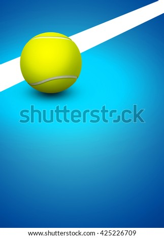 Abstract 3D rendering tennis invitation advert background with empty space - stock photo