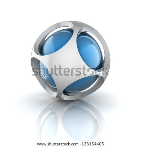 abstract 3d sphere - stock photo