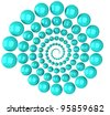 Abstract 3d spiral - stock vector