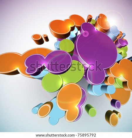 Abstract 3D Structures - stock photo