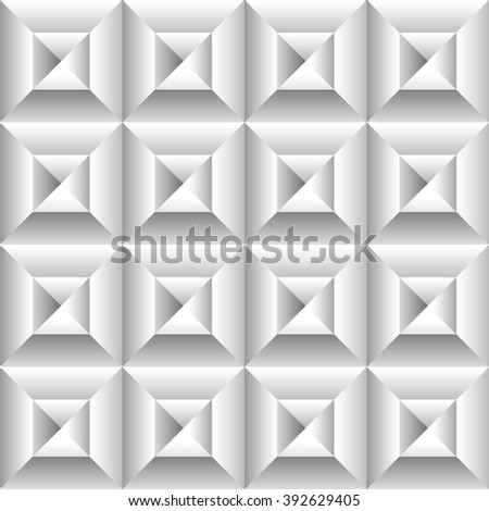 Abstract 3d surface, revetment background. Repeatable pattern. - stock photo