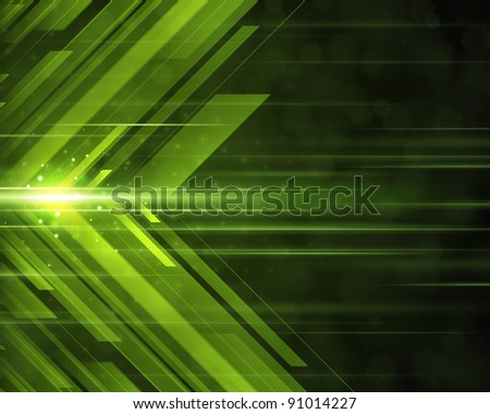 Abstract 3d technology lines with light background raster version - stock photo