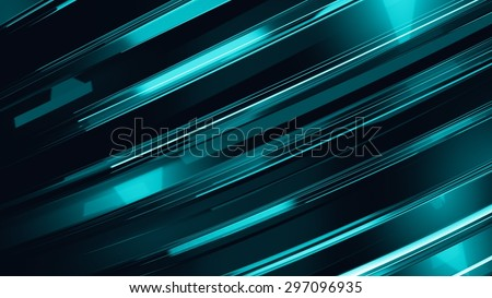 Abstract 3d technology. Straight lines abstract - stock photo
