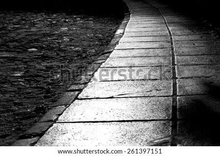 Abstract dark alley - stock photo