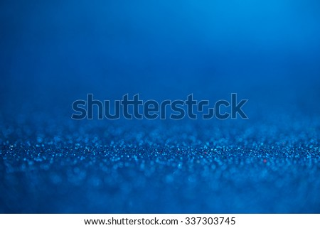 Abstract dark blue glitter bokeh holiday background. Winter xmas holidays. Christmas. - stock photo