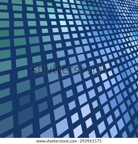 Abstract dark blue mosaic background. - stock photo