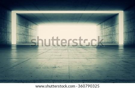Abstract dark concrete geometric background. 3D rende - stock photo