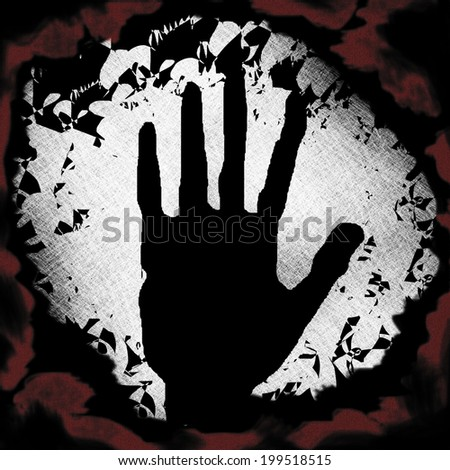 Abstract dark demonic occult background - stock photo