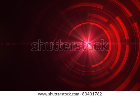 Abstract dark red technical background - stock photo
