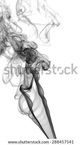 Abstract dark smoke on a light background - stock photo