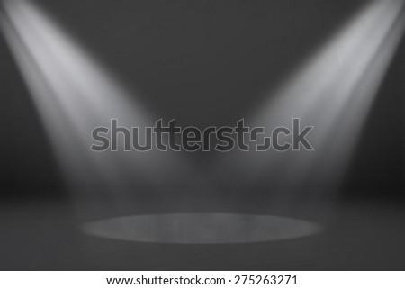 Abstract Dark Spotlight Room Background, old black vignette border frame white gray background, vintage grunge background texture design - stock photo