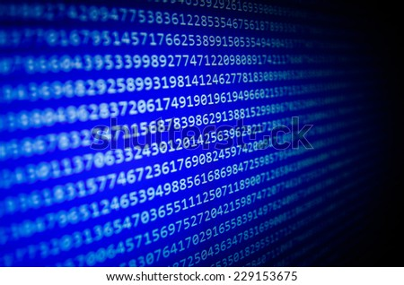 Abstract data bits stream background. Digital cyber pattern. - stock photo