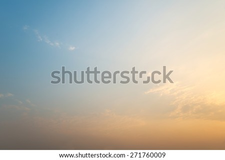 Abstract dawning warm color sky background - stock photo