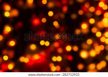 abstract de focused ,Colorful christmas lights on background