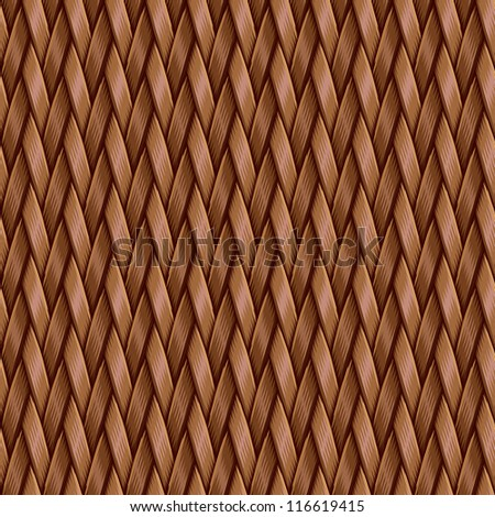 Abstract decorative basket weaving background. Seamless pattern. Illustration. - stock photo