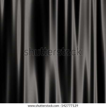 Abstract decorative curtain background of black color. - stock photo