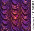 Abstract decorative curtains of violet color background. - stock