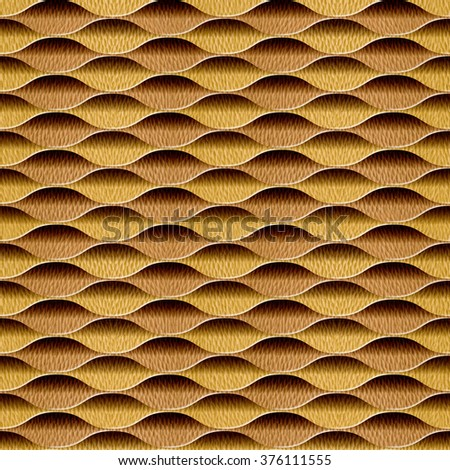 Abstract decorative lattice - Interior wall panel pattern - Geometric shapes - guilloche patterns - seamless background - White Oak wood texture - stock photo