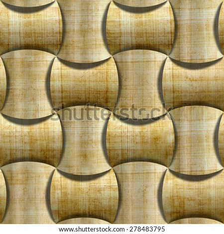 Abstract decorative panels - 3D wallpaper - Vintage wallpaper - paneling pattern - retro vintage style - wall decorative tiles - seamless pattern - rustic texture - papyrus texture - stock photo