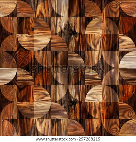 Abstract decorative texture - seamless background - paneling pattern - stock photo
