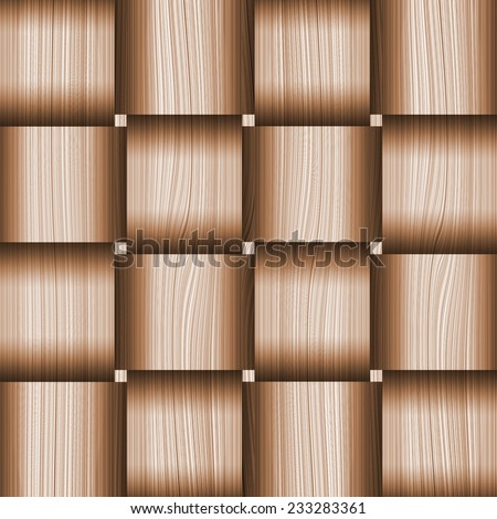 Abstract decorative wooden striped textured weaving background - stock photo