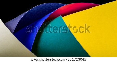 abstract decorativve color paper shapes texture background - stock photo