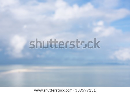 Abstract defocused blue blurred background - stock photo