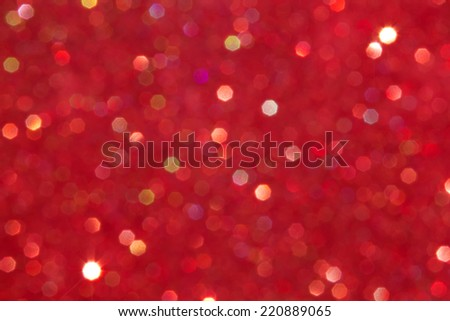 abstract defocused blurred red background, christmas - stock photo