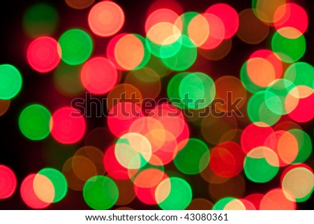 Abstract defocused colorful bokeh of lights