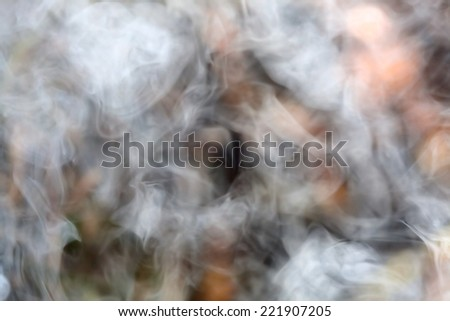 Abstract defocused smoke background - stock photo
