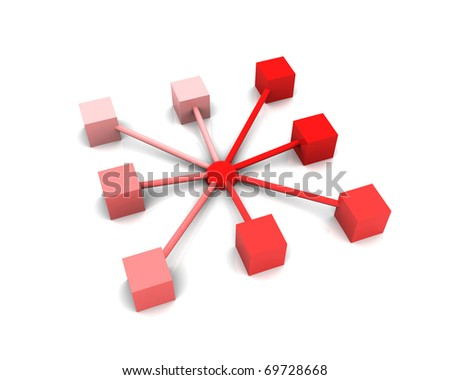 Abstract demonstration of network and communication - stock photo