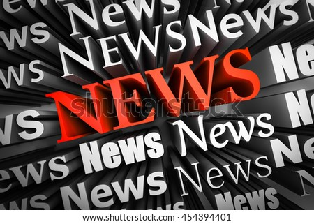 Abstract demonstration of  news as 3D rendering - stock photo