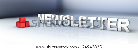 Abstract demonstration of newsletter - stock photo