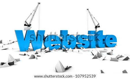 Abstract demonstration of website under construction