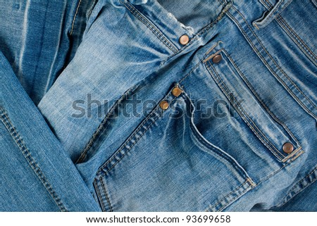 Abstract Denim Jeans background - stock photo