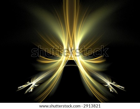 Abstract design, background set on black - stock photo