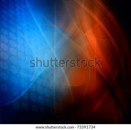 Abstract design, blue and red color, background - stock photo