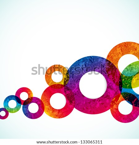 abstract design circles background. - stock photo