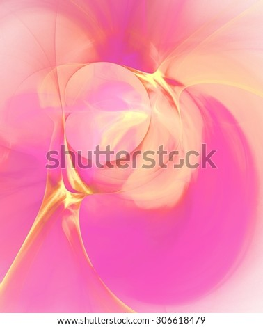 Abstract design in yellow and pink spectrum - stock photo