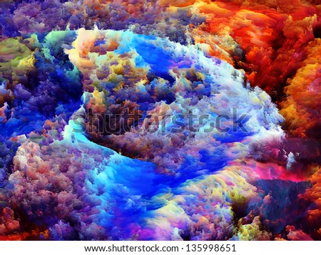 Abstract design made of colorful fractal paint on the subject of art, abstraction and creativity - stock photo