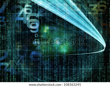 Abstract design made of numbers and fractal elements on the subject of computers, science, math and modern technology - stock photo