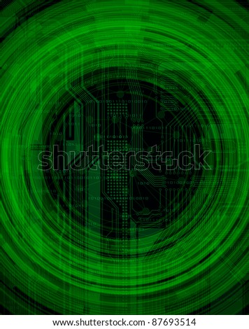 abstract design modern technology theme background - stock photo